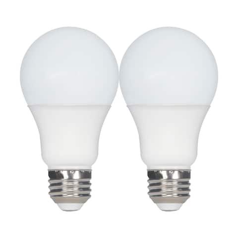 9.8 Watt A19 LED 2700K Medium base 220 deg. Beam Angle120 Volt Pack of 2 - Frost