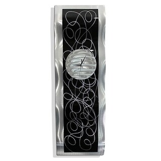 """Link to Statements2000 Abstract Metal Wall Clock Modern Functional Art by Jon Allen - Waves of Time - 32"""" x 10"""" Similar Items in Decorative Accessories"""