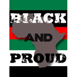 Black And Proud Poster (18x24)