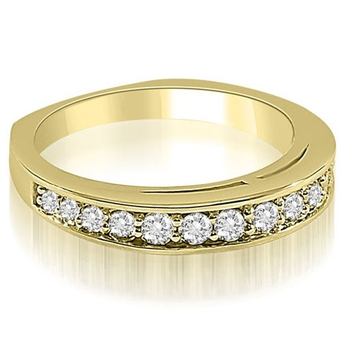0.50 cttw. 14K Yellow Gold Round Cut Diamond Wedding Ring