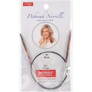 Size 5/3.75Mm - Deborah Norville Fixed Circular Knitting Needles 16""