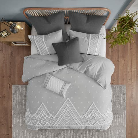 Marta Flax and Cotton Blended Duvet Cover Set by INK+IVY