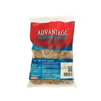 Alliance Advantage Latex Rubber Band, No 16, 2-1/2 L x 1/16 W in, 1/4 lb Box, Natural