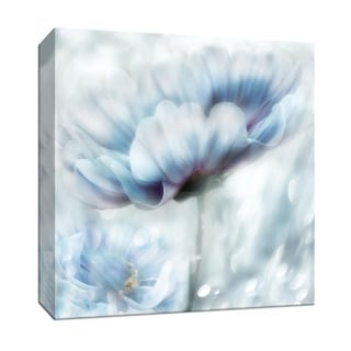 """PTM Images 9-147633  PTM Canvas Collection 12"""" x 12"""" - """"Feeling of Blue II"""" Giclee Flowers Art Print on Canvas"""