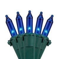 "Wintergreen Lighting 17554 25.5' Long Outdoor Premium 50 Mini Light Holiday Light Strand with 6"" Spacing and Green Wire"