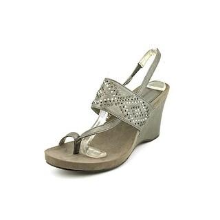 Style & Co Barley Women Open Toe Synthetic Silver Wedge Sandal