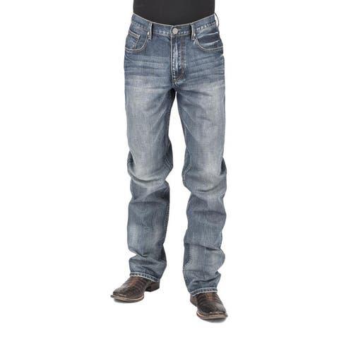 Stetson Western Denim Jeans Mens Straight Leg Blue