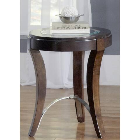 Avalon Dark Truffle Round Chair Side Table