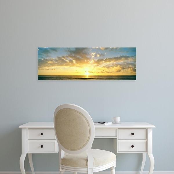 Easy Art Prints Panoramic Image 'Scenic view of Pacific Ocean at sunset, La Jolla, San Diego, California' Canvas Art