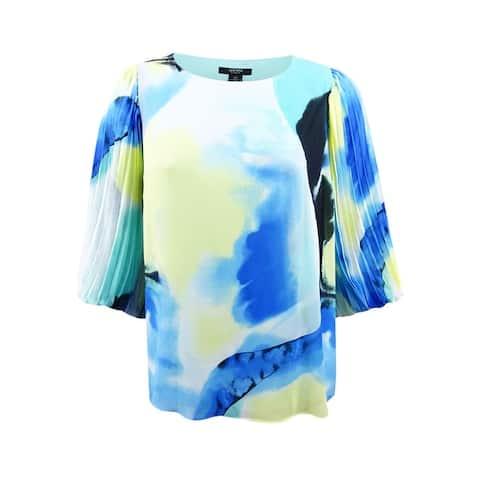 Alfani Women's Plus Size Pleated-Sleeve Top - Painted Vision