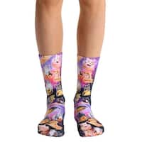 Living Royal Photo Print Crew Socks: Cat Cravings - Multi