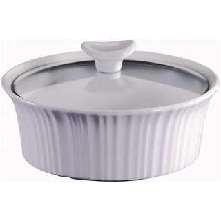 CorningWare 1105932 1.5 quart Round Casserole Dish, French White