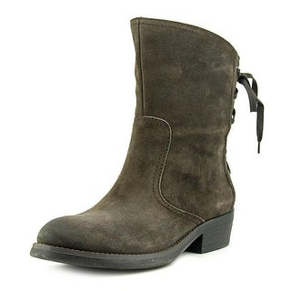 Nine West Krasher   Round Toe Leather  Ankle Boot