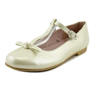 Nina Jami Youth Round Toe Patent Leather Ivory Mary Janes (Option: 13)