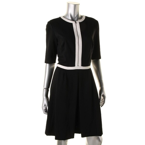 Lauren Ralph Lauren Womens Wear to Work Dress Elbow Sleeves Knee-Length