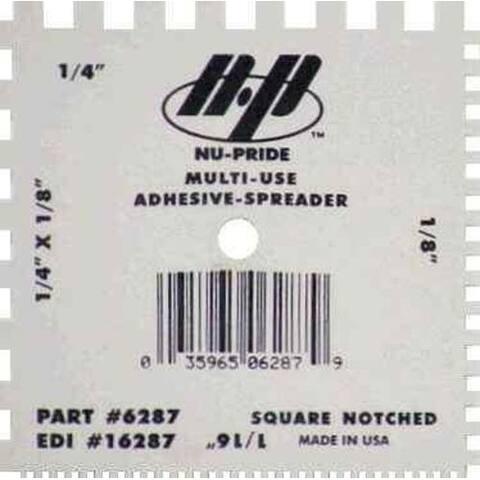 """Marshalltown 16287 Notched Spreader/Scraper, 4""""x4"""""""