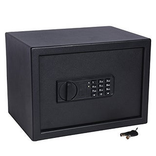 Ivation Keypad Digital Home Safe  9.8 x 13.7 x 9.8 Home Security Box, Backup Keys & Mounting Kit