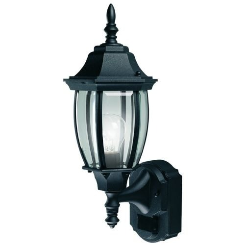 "Heath Zenith HZ-4192 18-1/2"" Tall 1 Light 180 Degree Motion Activated Outdoor Wall Sconce"