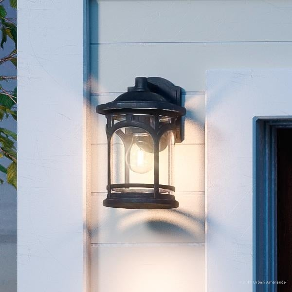 shop luxury rustic outdoor wall light 11 h x 7 w with colonial