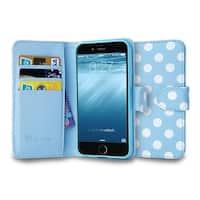 iPhone 6 4.7 Case, i-Blason, Leatherbook Wallet Case-Dalmation/Blue