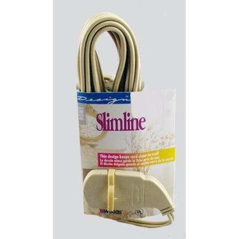 Slimline 2239AC Household Extension Cord, Tan, 16/2 x 7'