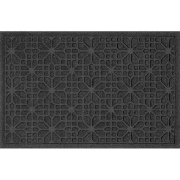 707540023 Water Guard Stained Glass Mat in Charcoal - 2 ft. x 3 ft.