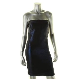 Morgan & Co. Womens Juniors Bodycon Dress Metallic Strapless