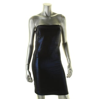 Morgan & Co. Womens Juniors Bodycon Dress Metallic Strapless