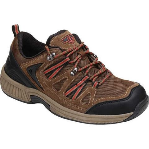 Orthofeet Men's Sorrento Sneaker Brown Synthetic