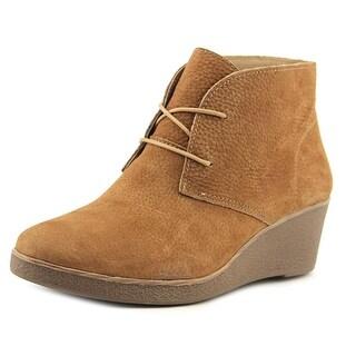 Lucky Brand Junes Open Toe Leather Wedge Heel