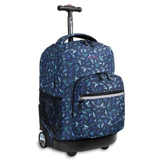J World New York Sunrise 18 Inch Rolling Backpack, Reef