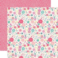 """Fancy Floral - Imagine That Girl Double-Sided Cardstock 12""""X12"""""""