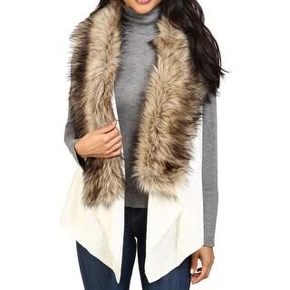 MICHAEL Michael Kors NEW White Ivory Womens M Vest Sleeveless Sweater