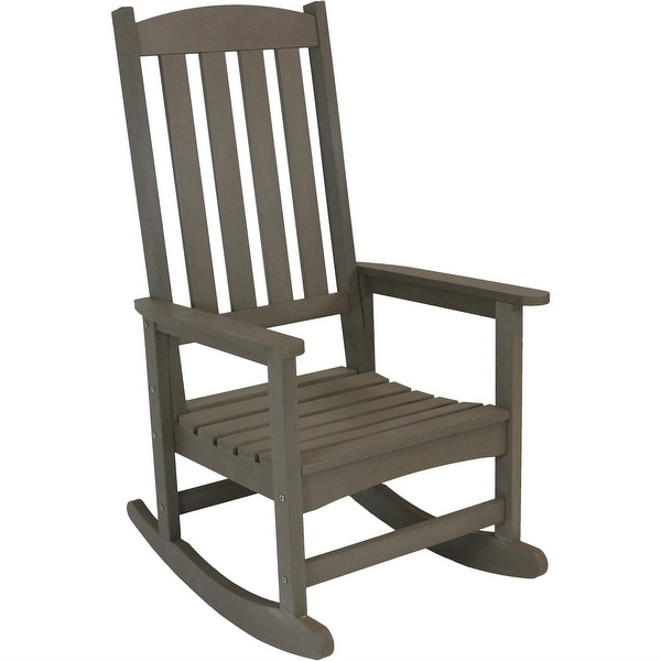 Charmant Sunnydaze All Weather Rocking Chair With Faux Wood Design   Multiple Colors