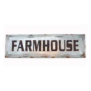 Distressed Galvanized Zinc Finish Farmhouse Wall Sign