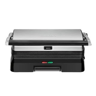Cuisinart GR-11 Griddler 3-in-1 Grill and Panini Press, Stainless & Black