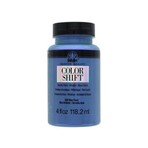 5191 plaid folkart color shift paint 4oz blue flash