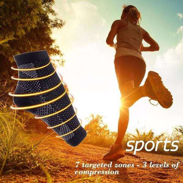 Plantar Fasciitis Relief and Tired Feet Double Extra-Large Swelling Relief Anti-Fatigue Compression Sock for Improved Circulation Boosts Circulation /& Reduces Inflammation