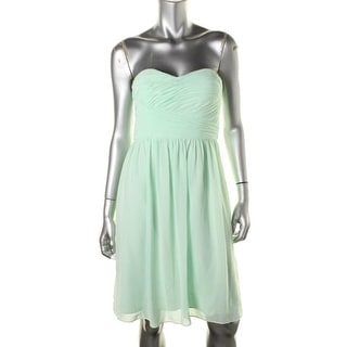 Donna Morgan Womens Pleated Strapless Cocktail Dress - 6