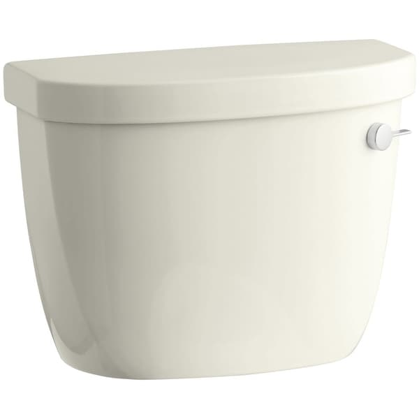 Kohler K-4421-RA Cimarron 1.28 GPF Toilet Tank Only with Right Hand Trip Lever and AquaPiston Technology