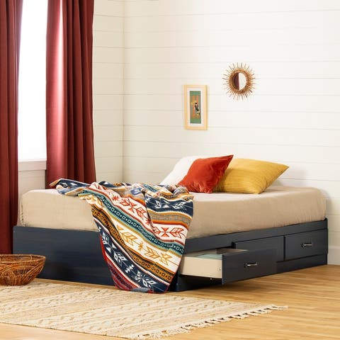 South Shore Asten Full Mates Bed with 3 Drawers