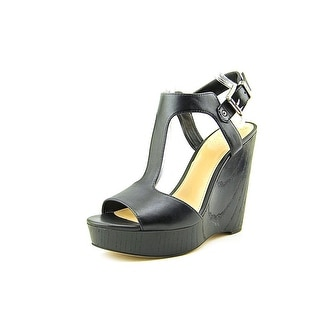Vince Camuto Mathis Open Toe Leather Wedge Sandal