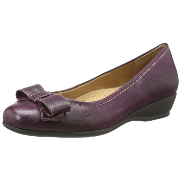 Trotters NEW Purple Shoes Size 6N Landry Pump Wedges Leather Heels
