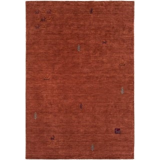 Hand Loomed Stains Wool Area Rug - 5' x 7'6""