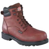 "Iron Age Men's Hauler 6"" Waterproof Work Boot Brown Leather"