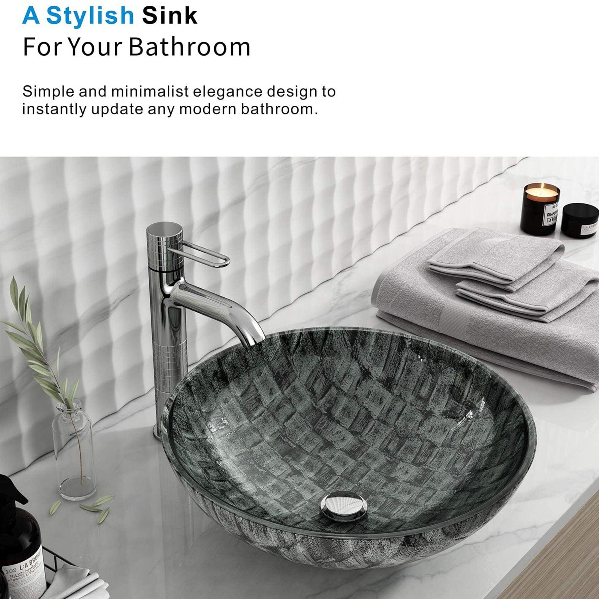 Ocean Green Glass Handmade Circular Vessel Bathroom Sink Overstock 32599312