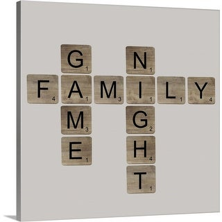 """Game Night"" Canvas Wall Art"