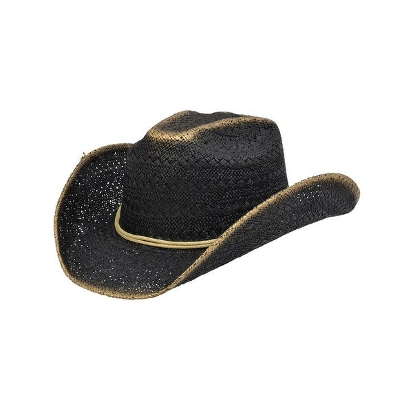 Shop Alamo Cowboy Hat Twisted Toyo Viveza S M Black Gold - Free Shipping On  Orders Over  45 - Overstock.com - 17816367 d680a5376b55