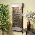 Adagio Whispering Creek Fountain w/ Green Natural Slate in Silver Metallic Finis - Thumbnail 0