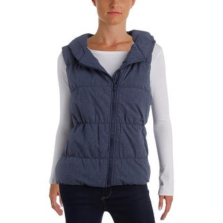 Bench Womens Vest Chambray Hooded